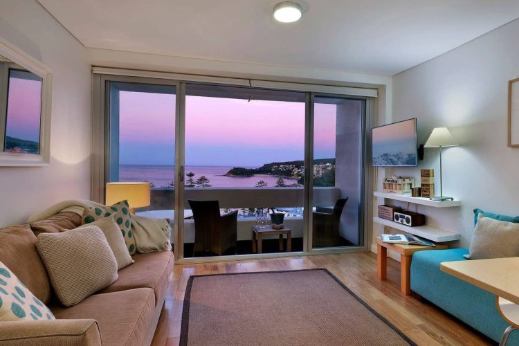 Manly beach apartment view of sunrise