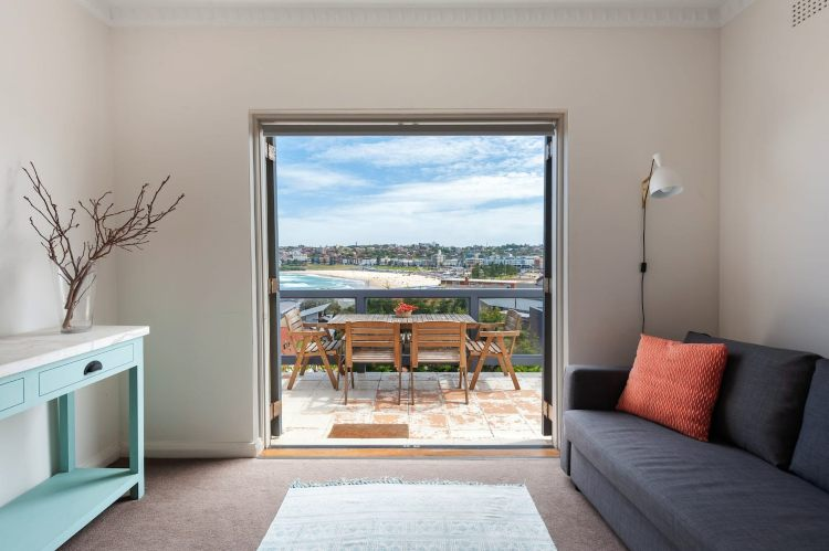 North Bondi Airbnb apartment view of the beach