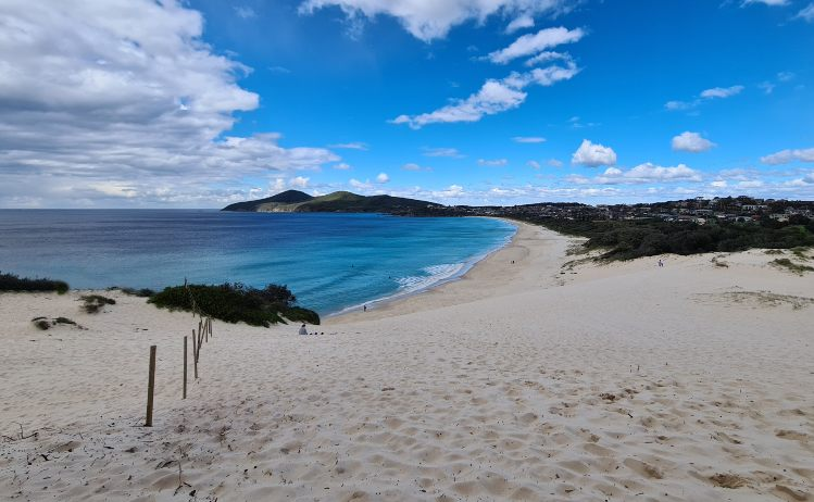 One Mile Beach Sand Dune Forster NSW