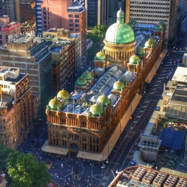 Queen Victoria Building in Sydney in afternoon sun