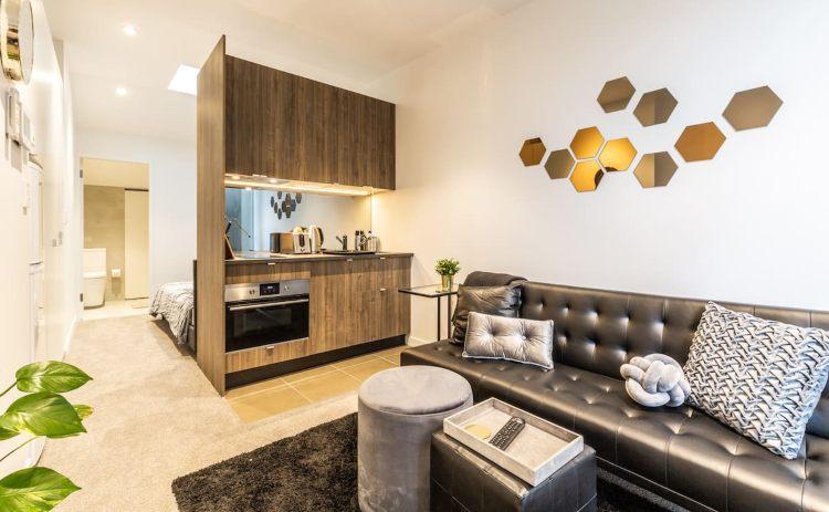 Studio living area in Redfern Airbnb rental in Sydney