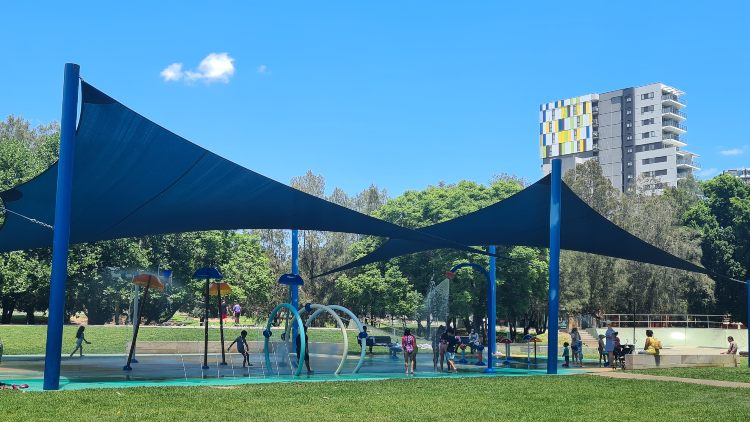 Water park at James Ruse Reserve Parramatta