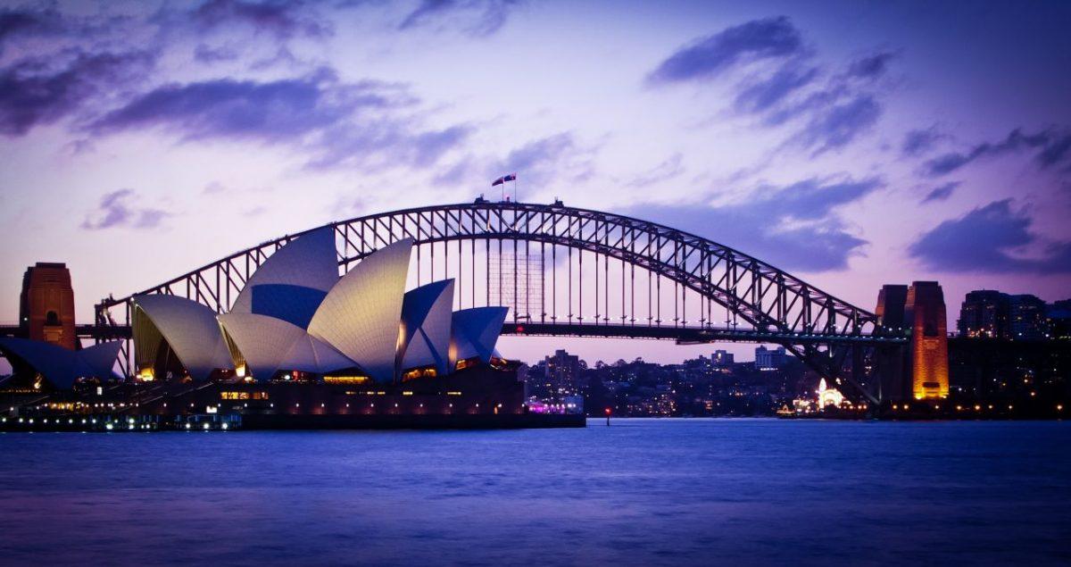 Sydney winter harbour