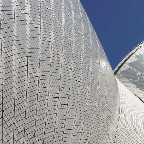 Opera House Close up blue sky Sydney