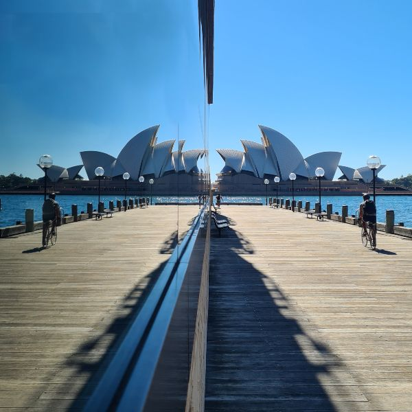 Sydney Opera House refection at the Rocks
