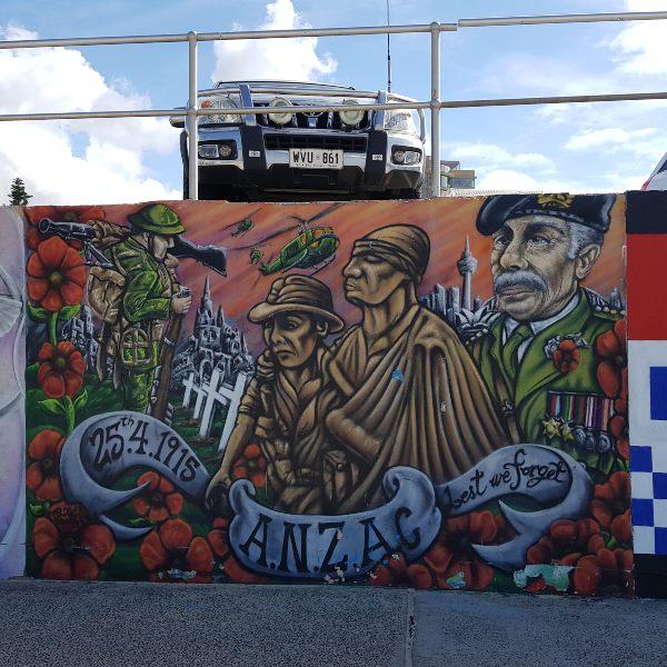 Bondi Beach Anzac Mural