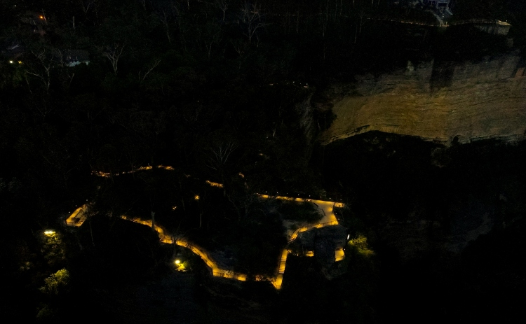 Blue Mountains Katoomba Night Walk map