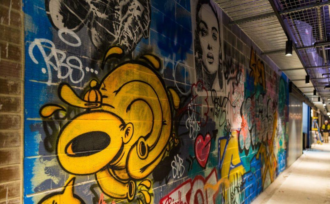 Phibs mural at new marrickville metro