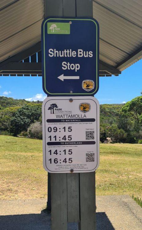 Royal National Park Shuttle bus stop