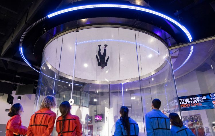 The indoor skydiving experience at iFly Downunder, Penrith .