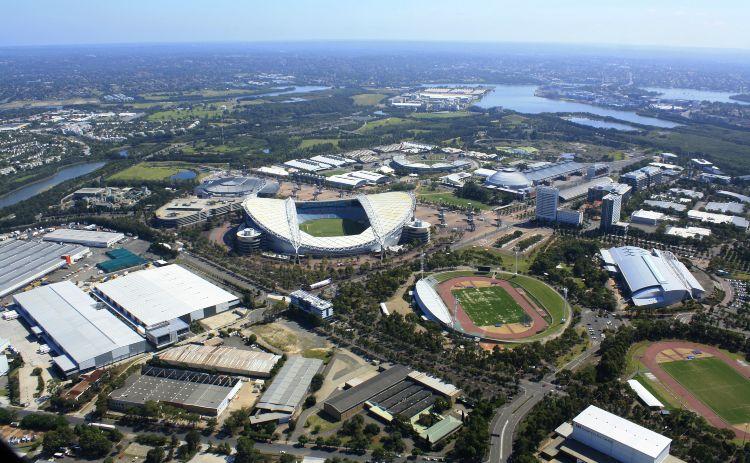 Sydney olympic park aerial view Western Sydney